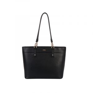 Bolso tote textured negro